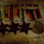 Nostalgic medals and letter