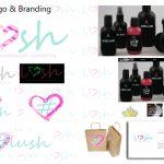 Lush Logo & Branding Presentation Board