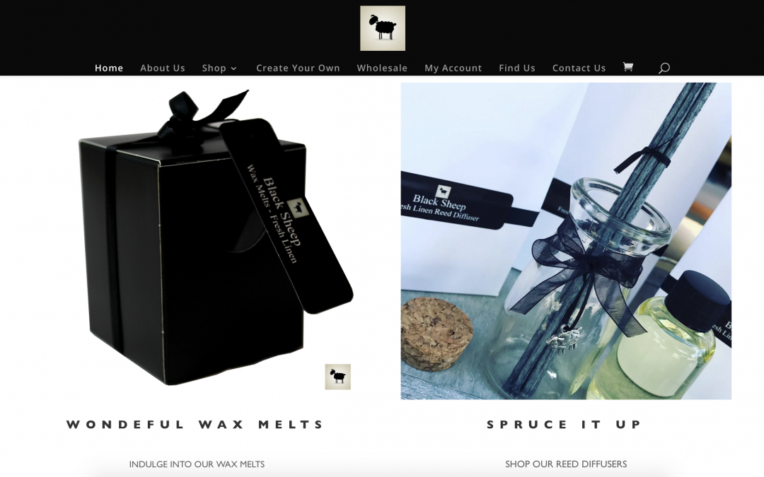 Black Sheep Candles Website