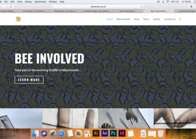 BeeItMcr Website Design 2018 (Concept for University Brief)