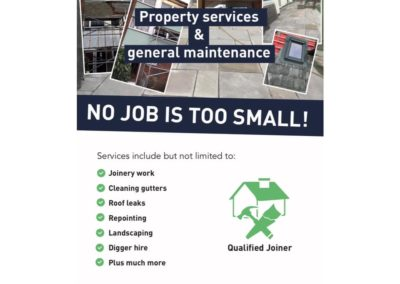 Freelance Work – Leaftlets for self-employed joiner