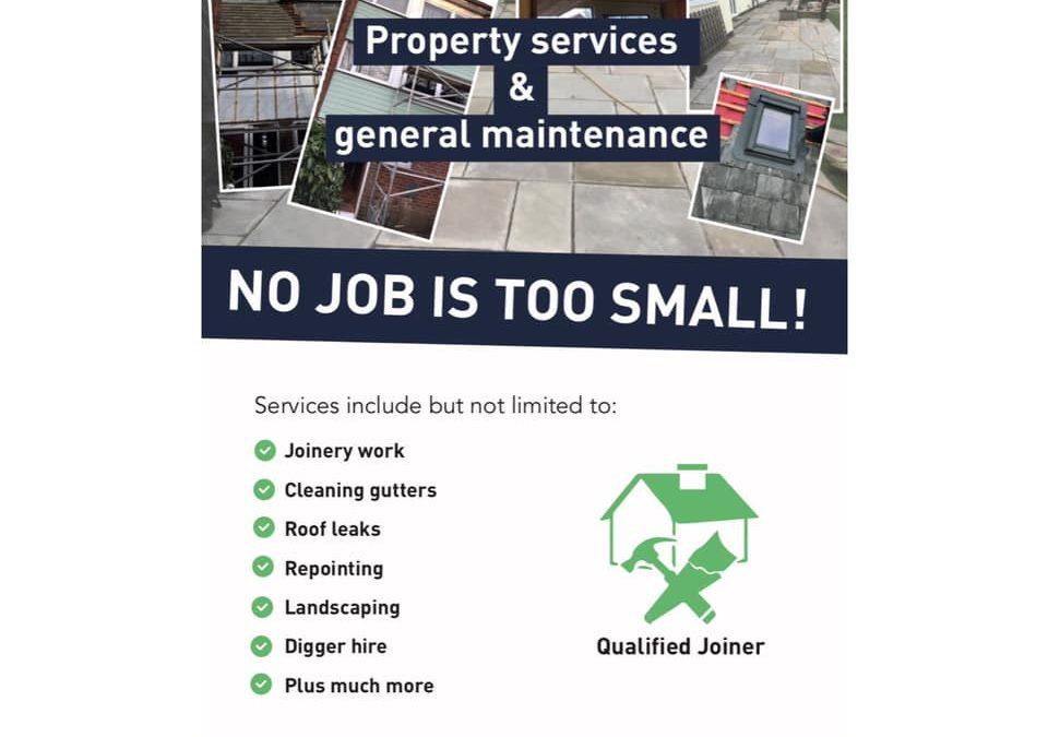 Freelance Work – Leaftlets for self-employed joiner