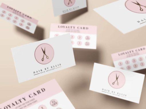 Hair by Ellis Loyalty Cards & Luxury Half Fold Price Lists