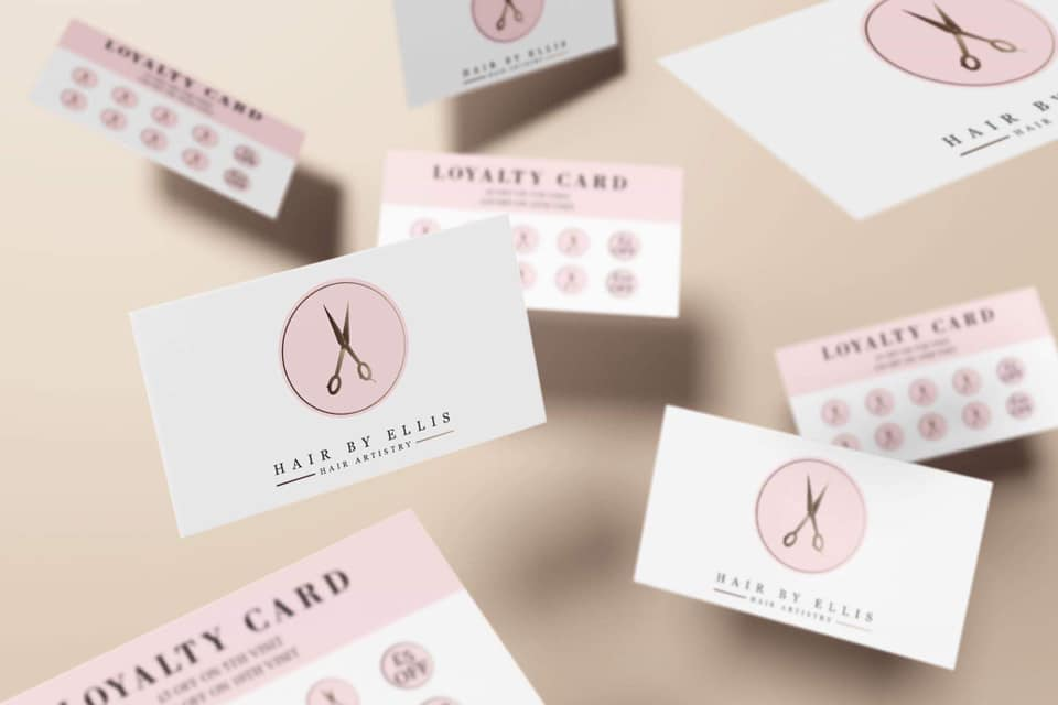 Hair by Ellis Loyalty Cards & Luxury Half Fold Price Lists